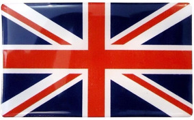 Bandeira Da Inglaterra Resinada Adesivo Frete Fixo P/ Brasil