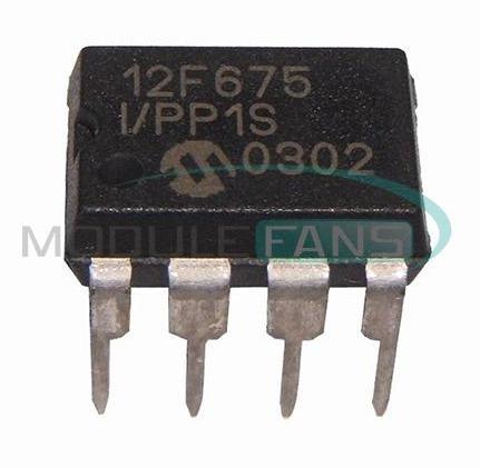 Microcontrolador Pic12f675-i/p Dip8 (000042)