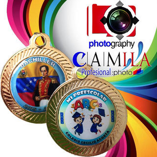 Medalla Rendonda (graduación,premiacion Y En Centro Vacío)
