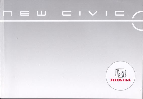 Manual Do Proprietário Do Honda New Civic 2010 - Seminovo