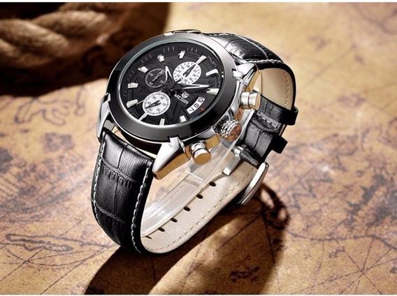 Relógio Masculino Megir M2020 Cronógrafo Luxo Alta Qualidade