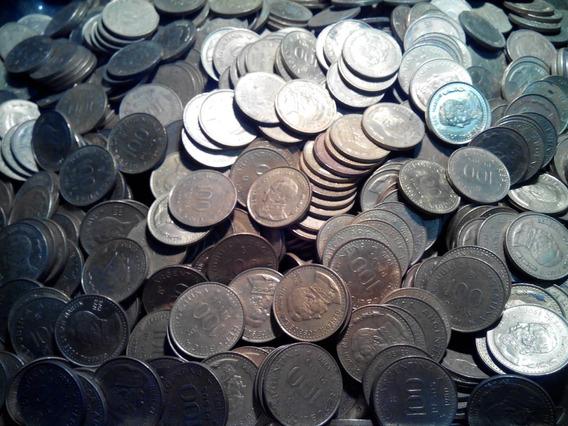 Lote De Medio Kilo [kg] Monedas De 100 Pesos De 1978 A 1981