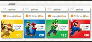 Tarjetas Nintendo Eshop $10-$70