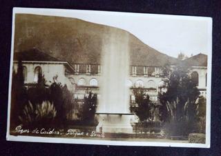 Cartão Postal Poços De Calda Parque E Ponte Minas Gerais