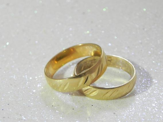 Aliança Casamento Ouro 18k At58