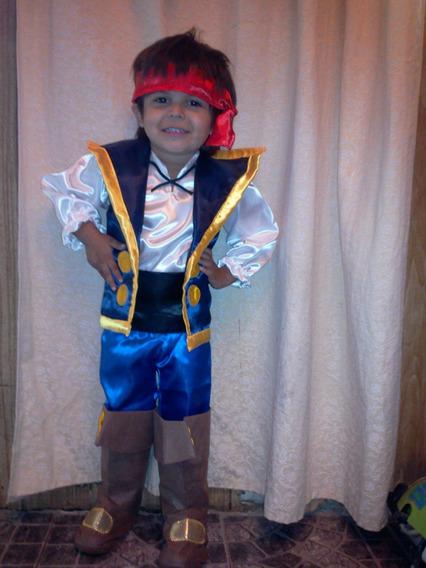 Disfraz De Jake Y Los Piratas Del Pais De Nunca Jamas