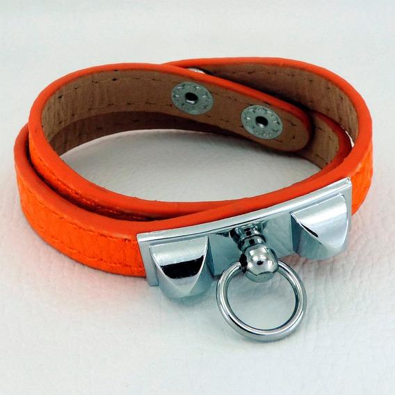 Pulseira Bracelete Feminina Duas Voltas Ajustável Com Botão