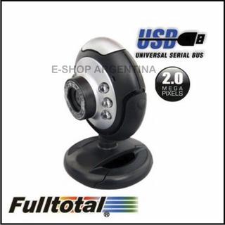 Camara Web Usb Con Microfono Fulltotal