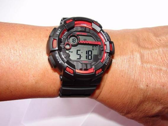 Mormaii Mo935/8r Relogio Masculino Digital Grande Crono Alarme Wr100m Nf 1 Ano De Garantia Pronta Entrega Timer 100m