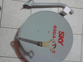 Kit Uma Antena Ku Mas Um Lnb Duplo Mais Kit De Fixacao