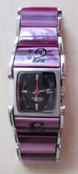 B7508 Relógio De Pulso Diesel Feminino, Com Pulseira E Caix