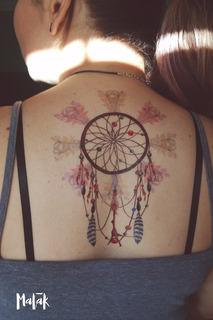 Flash Tattoo Atrapasueños Tatuaje Temporal