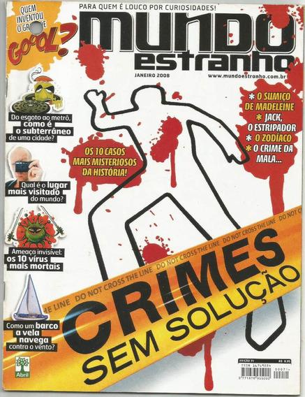 Revista Mundo Estranho Crimes Ed.71 Janeiro 2008