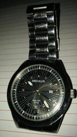 Relógio Seculus Long Life Quartz Fundo Preto