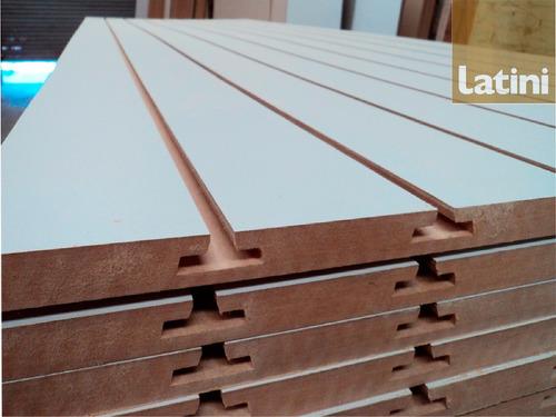 Panel Ranurado Blanco Rapiwall 275x91cm. Fabricante. Envíos.