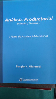 Analisis Productorial (simple Y General) Ser. Giannetti Nvo