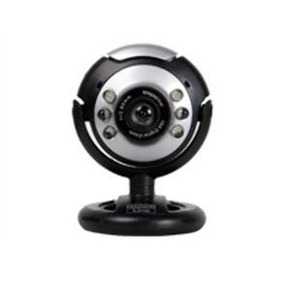 Web Cam Hardline C/ Microfone Preta E Prata 6809