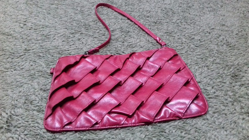 Cartera  - Simil Cuero - Color Bordeau