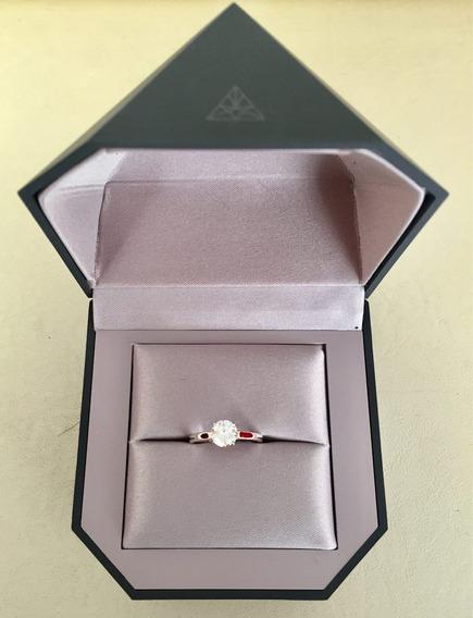 Anillo Compromiso Oro Blanco Diamante .84 Cts, Vs1, Color I