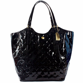 Bolsa Coach Original Peyton Embossed Patent Leather - Black