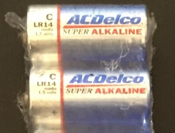 Pilhas Alcalinas Acdelco Média C. Lote Com 24 Unidades