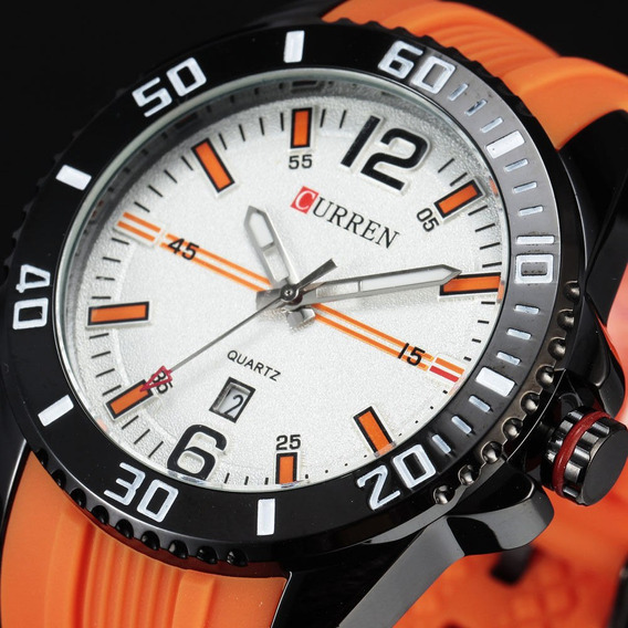 Relógio De Pulso Quartzo Curren M 8178 Sport Masculino Aço
