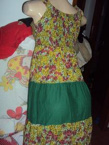 Vestido Feminino Indiano Moda Índia Verde Tamanho M