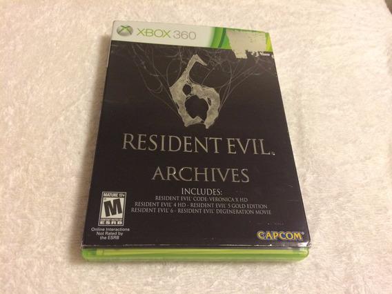 Resident Evil 6 Archives (xbox 360, 2012) Com Luva