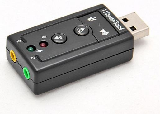 Placa Som Usb 7.1 Audio Sound P2 Fone Microfone Windows Mac