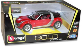 Burago - Smart Roadster Coupe - Gold Collezione