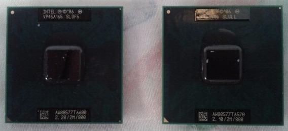 Processador T6600 / T6570 Intel Core2duo Socket478 Notebook
