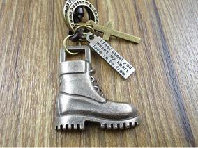 Colar Cordão Masculino Couro Estilo Armani Alpinismo Boots