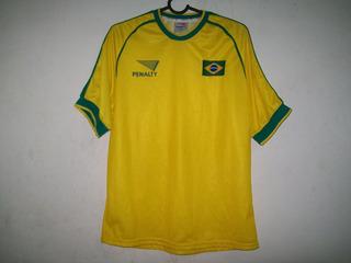 Camisa Da Seleçao Brasileira De Futsal Tamanho L10 Penalty
