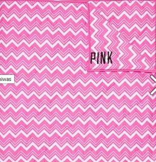 Victorias Secret Pink Edredon Zig Zag Rosa Reversible Amyglo