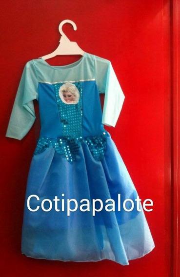 Disfraz Frozen Elsa Anna Niña Princesa Promo Oferta Vestido