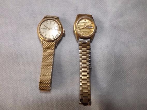 Relógios Femininos Seiko Dourado - Valor Do Lote* #2354