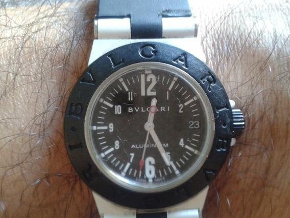 Relógio Bvlgari Aluminium Original Com Certificado E Nf