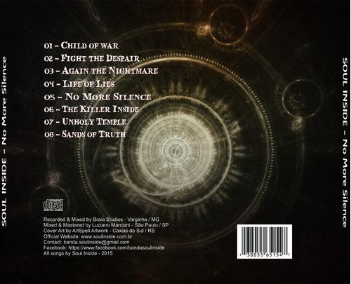 Cd Banda Thrash/death Metal - Soul Inside - No More Silence