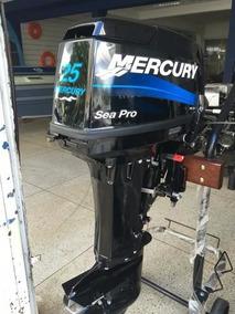 Motor De Popa Mercury 25 Hp Sea Pro 2t 0km