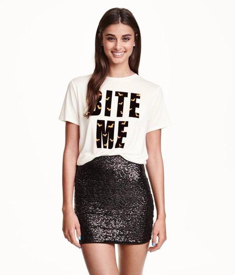 Black Sequin Skirt H/m