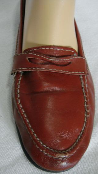 Zapatos 40 Mocasines Cuero Vacuno Rojo-bordo (ana.mar)