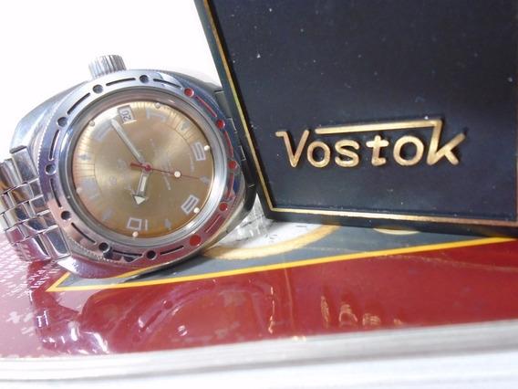 Relógio Vostok Militar Boctok Russo Submarino 200 M Anfibio