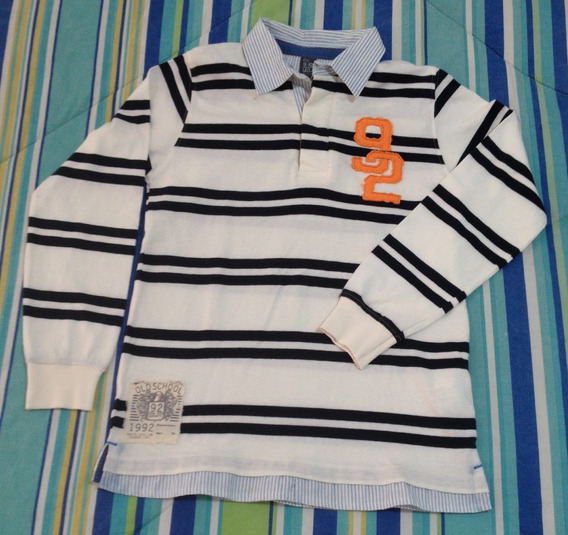 Camiseta Polo Manga Comprida Zara Infantil 9-10 Masculina