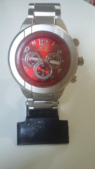 Relógio Analógico Oakley Unissex Pulseira De Aço Inox