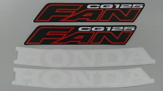 Kit Adesivos Honda Fan Cg 125 2006 Vermelha