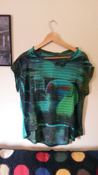 Blusa Camiseta Feminina Estampa Tucano