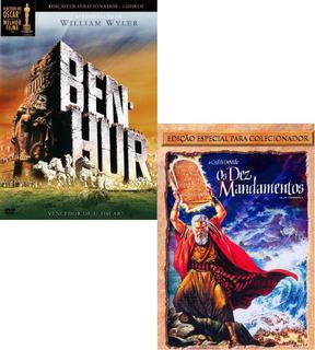 Dvd Ben Hur Ed. Especial + Os Dez Mandamentos - 6 Dvds