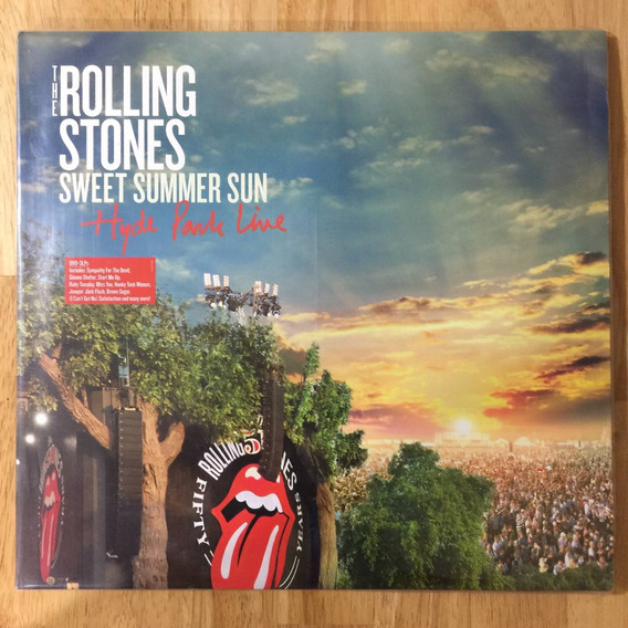 3 Lps+dvd The Rolling Stones Sweet Summer Sun Hyde Park Live