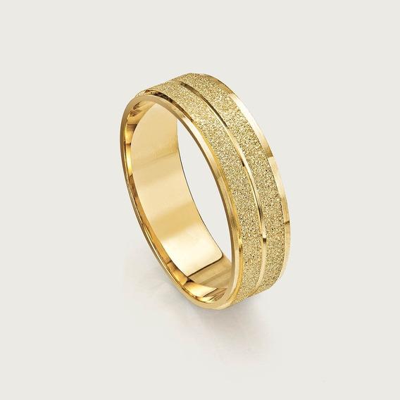 Par Aliança Noivado Ou Casamento 5 Mm Ouro 18k Frete Gratis!