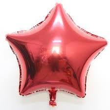 Globos Metalizados Estrella Rojo Dorado Plateado Fucsia 40cm